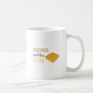 Freund-Waffel-Arbeit Kaffeetasse
