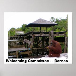 Freundlicher Ausschuss-Borneo-Reise Poster