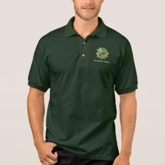 Freundschaft arbeitet Logo-Grün im Garten Polo Shirt