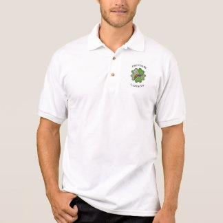 Freundschaft arbeitet Logo im Garten Polo Shirt