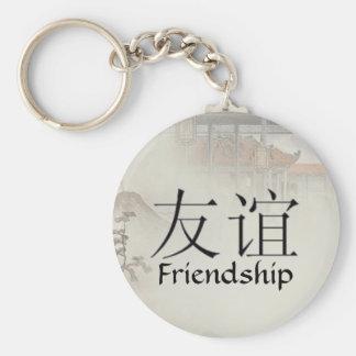 Freundschaft Standard Runder Schlüsselanhänger