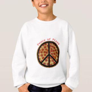 Frieden der Pizza Sweatshirt