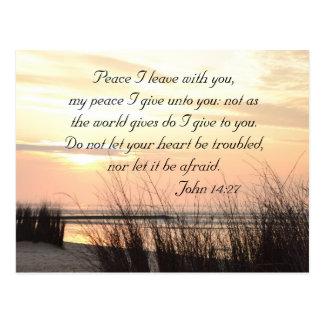 Frieden I verlassen mit Ihnen, John-14:27, Postkarte