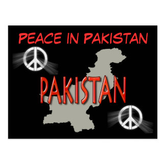 Frieden in Pakistan-Postkarte Postkarte