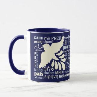 FRIEDEN in vielen SprachName-Tassen Tasse