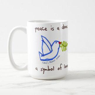 Frieden ist eine Taube Tasse