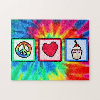 Frieden, Liebe, kleine Kuchen Puzzle
