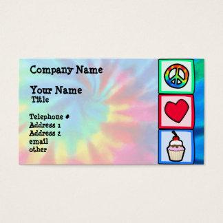 Frieden, Liebe, kleine Kuchen Visitenkarten