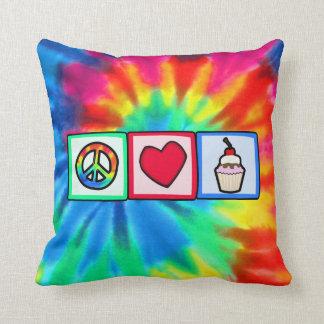 Frieden, Liebe, kleine Kuchen Zierkissen