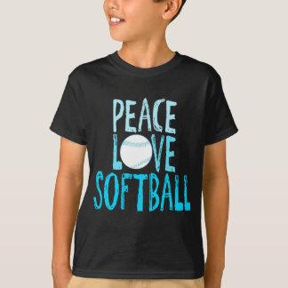 Frieden, Liebe, Softball T-Shirt