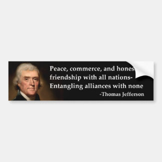 Frieden Thomas Jefferson, Handel Autoaufkleber