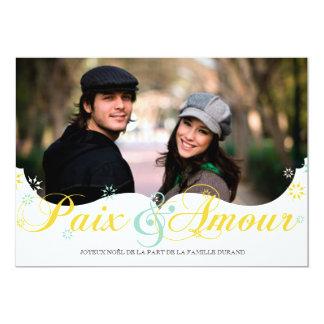 Frieden und von Liebe Weihnachtskarte 12,7 X 17,8 Cm Einladungskarte