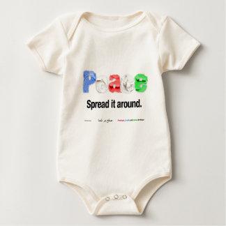 Frieden. Verbreiten Sie ihn herum Baby Strampler