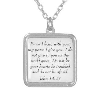 Friedensbibel-Vers John-14:27halskette Versilberte Kette