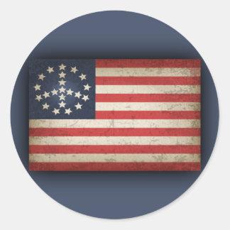 Friedensflagge - xdist runder aufkleber