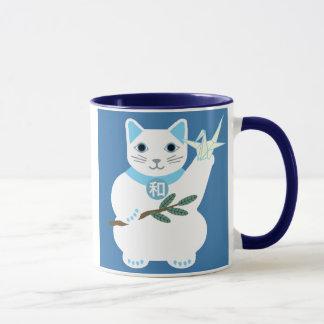 Friedensglückliche Katzen-Tasse Tasse