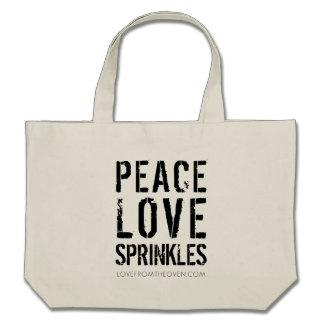 FriedensLiebe besprüht Taschen-Tasche
