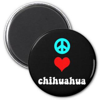 FriedensLiebe Chihuahua Runder Magnet 5,7 Cm