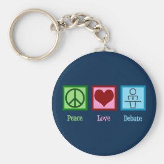 FriedensLiebe-Debatten-Team Schlüsselanhänger