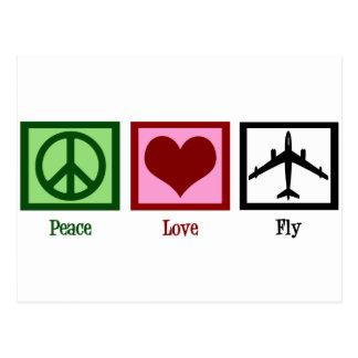 FriedensLiebe-Fliege Postkarte