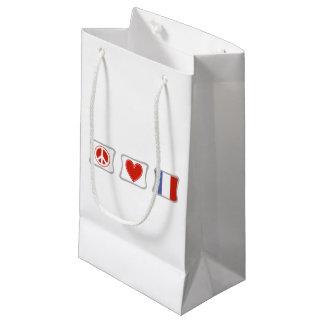 FriedensLiebe-Frankreich-Quadrate Kleine Geschenktüte