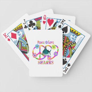 FriedensLiebe-Haifische Bicycle Spielkarten
