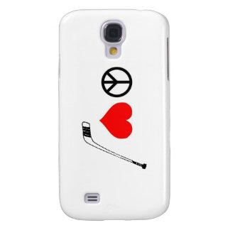 FriedensLiebe-Hockey-Telefon-Kasten Galaxy S4 Hülle