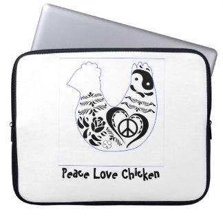 FriedensLiebe-Huhn Laptop Sleeve