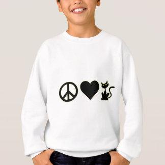 FriedensLiebe-Katzen Sweatshirt
