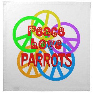 FriedensLiebe-Papageien Serviette