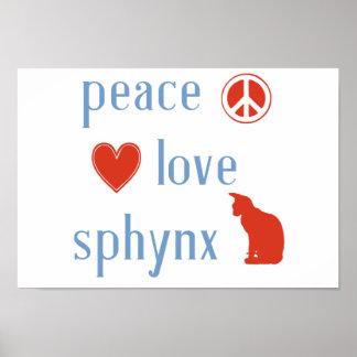 FriedensLiebe Sphynx Katzen Poster