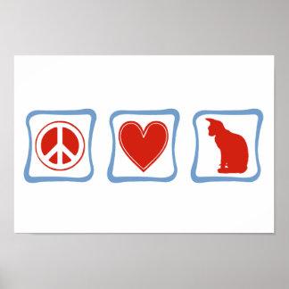 FriedensLiebe Sphynx Katzenquadrate Poster
