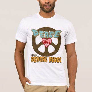 FriedensLiebe und zahnmedizinische Glasschlacke T-Shirt