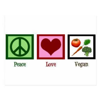 FriedensLiebe vegan Postkarte
