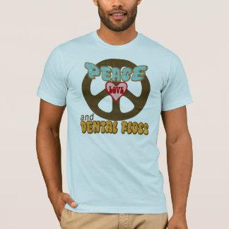 FriedensLiebe-zahnmedizinische Glasschlacke T-Shirt