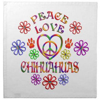 FriedensLiebeChihuahuas Stoffserviette