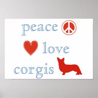 FriedensLiebeCorgis Poster