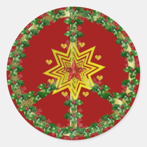 Friedensstern-Weihnachten Stickers