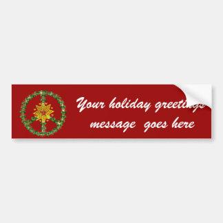 Friedensstern-Weihnachten Autoaufkleber