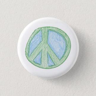 Friedenssymbol bohren vorbei runder button 2,5 cm