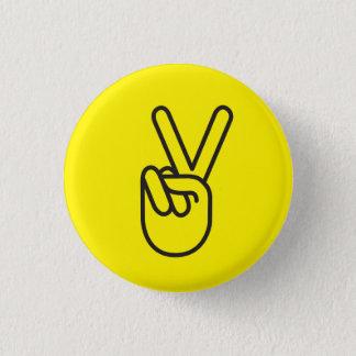 Friedenssymbol Runder Button 2,5 Cm