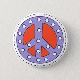 Friedenssymbol Runder Button 5,1 Cm