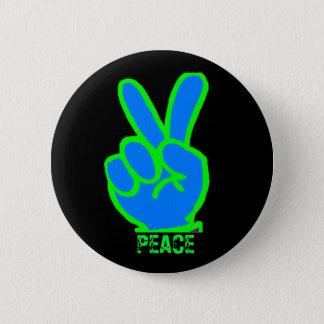 Friedenssymbol Runder Button 5,7 Cm