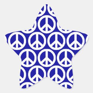 Friedenszeichen Sternaufkleber