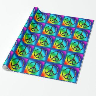 Friedenszeichenhippie-Geschenk-Verpackung Geschenkpapier