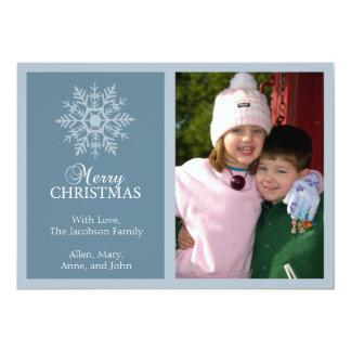 Friedliche Schneeflocke-Weihnachtskarte (blaues 12,7 X 17,8 Cm Einladungskarte