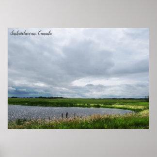 Friedliches Kanadier-Grasland der Natur-  Poster