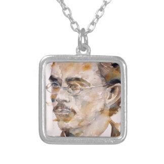 Friedrich nietzsche - Aquarell portrait.2 Versilberte Kette