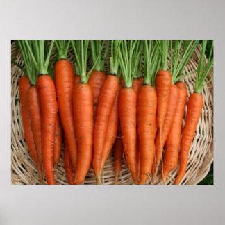 Frisch von den Gartenheirloom-Karotten Poster