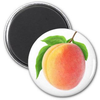 Frische Aprikose Runder Magnet 5,7 Cm